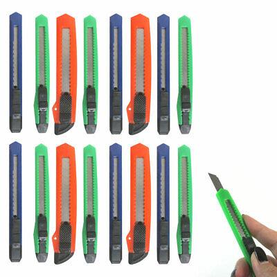 16 Knife Utility Box Cutter Retractable Snap Off Lock Razor