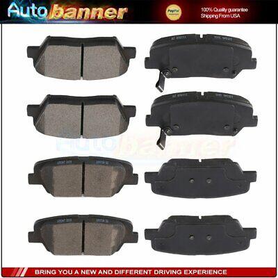 Front & Rear Brake Pads For Hyundai Santa Fe Kia Sorento Ceramic Low Noise -
