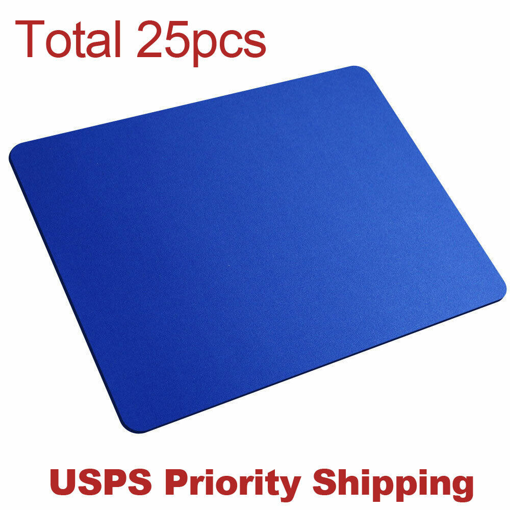 lot 25pcs blue gaming mouse pad large