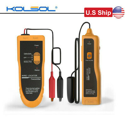 Kolsol F02 Underground Buried Wires Cable Wire Locator Tracker Lan With Earphone