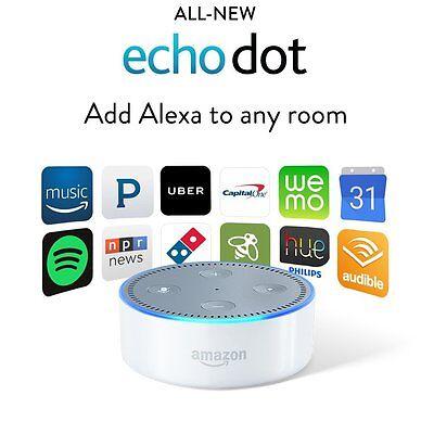 Amazon Echo Dot 2Nd Generation W  Alexa Voice Media Device   All New 2016 White