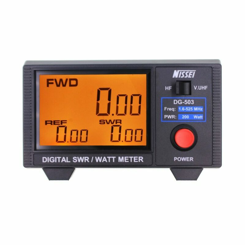 Original NISSEI DG-503 SWR Digital Power Meter 1.6-525Mhz Short Wave Meter