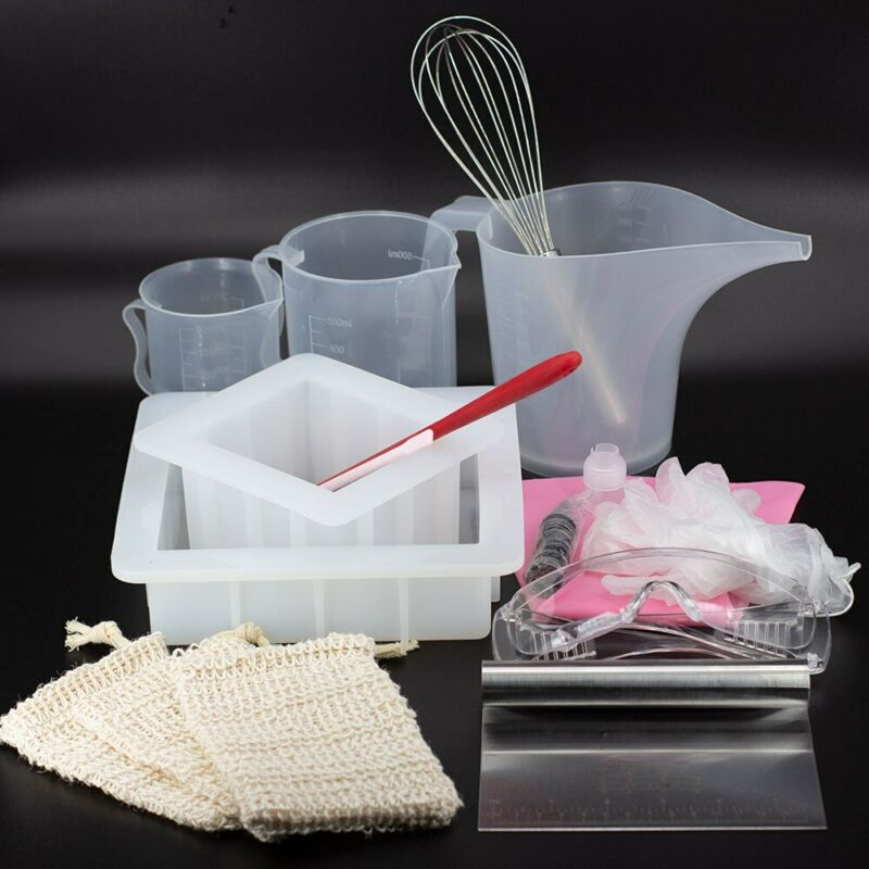 Professional Handmade Soap Kits Silicone Loaf Mold With 13pcs Tools Making Soap