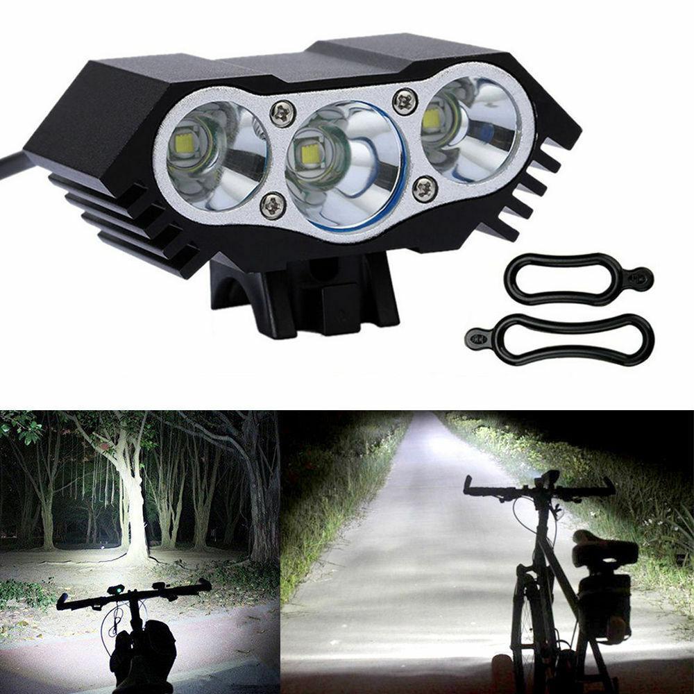 3 x CREE XM-L T6 LED Bicycle bike HeadLight Head Light Lamp Torch Flashlight US Bicycle Accessories
