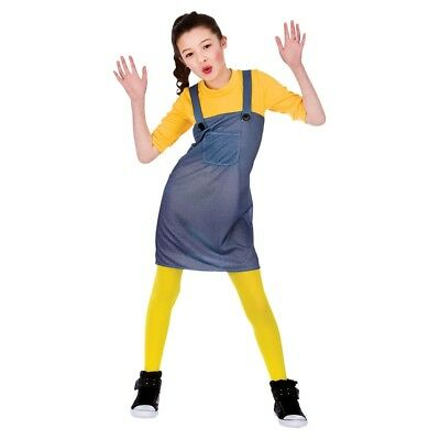**CLEARANCE!** Mischievous Worker Minion Fancy Dress Costume Christmas Girl's