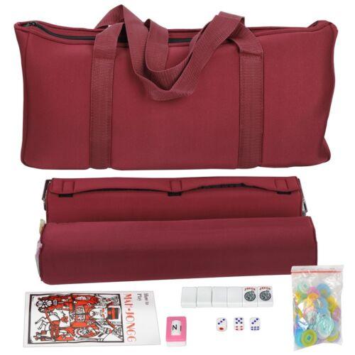 166 Tiles 4 Colors Pushers/Racks Mah Jongg Set Soft Bag American Mahjong Set Board & Traditional Games