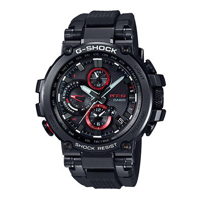 - -NEW- Casio G-Shock MT-G Bluetooth, Atomic Time, Solar Power Watch MTGB1000B-1A