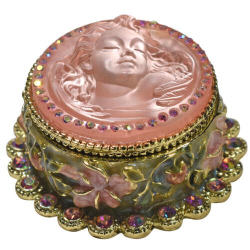 Kirks Folly Goddess Dream Angel Trinket Box goldtone