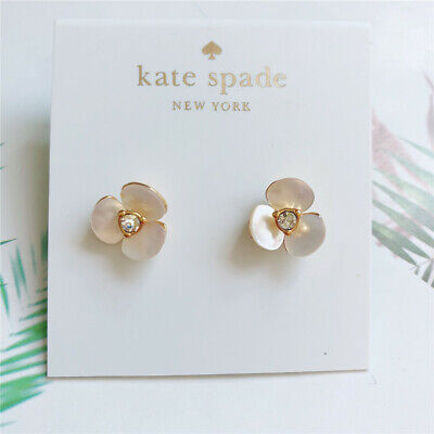 Kate Spade Fashion Pearl and Flower Reversible Earrings