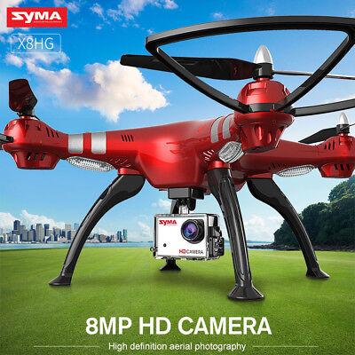 3 Batteries Syma X8HG 8MP HD Camera Drone FPV Hover Gyro RC Quadcopter Headless