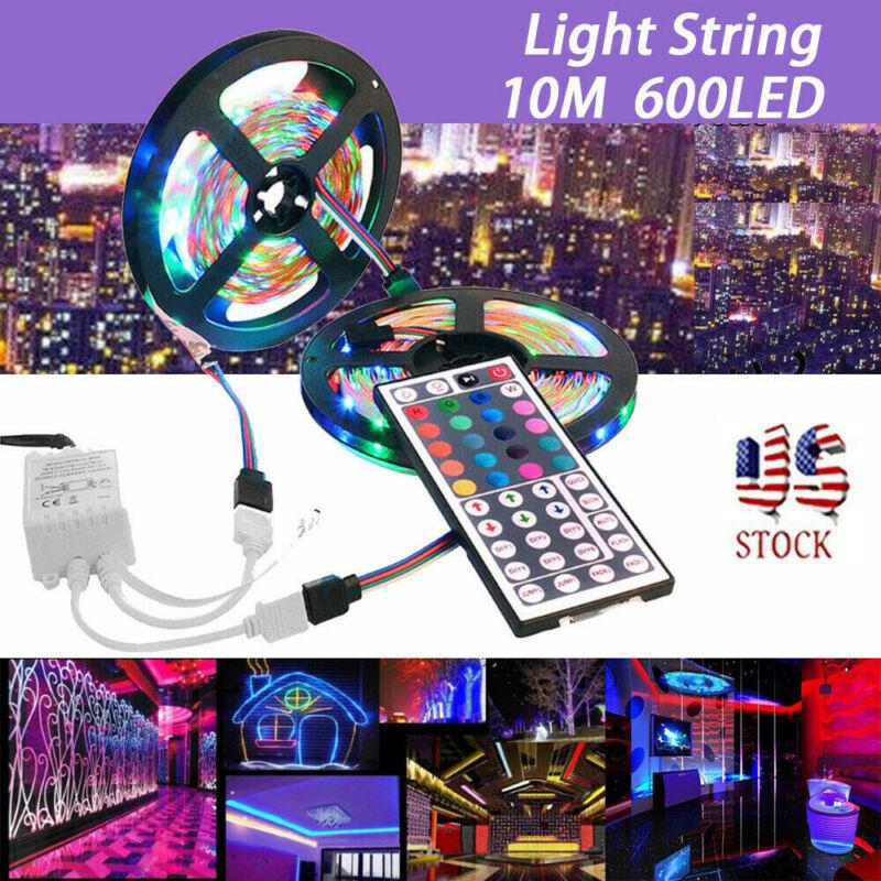 10M 3528 SMD RGB 600 LED Lighting Strips 44 Key Remote Contr