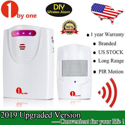 1byone Wireless Driveway Alert Alarm System Infrared Motion Sensor Security 100M Motion Sensor Alarm System