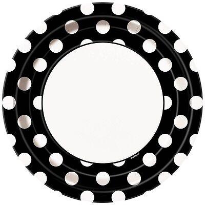 8 Black White Polka Dot Spot Style Party Large 9