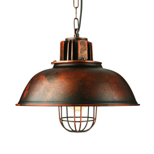 Retro Barn Pendant Lighting Shade Industrial Hanging Ceiling Light Fixture E27