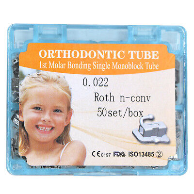 50setsbox Dental Orthodontic 1st Molar Non-convertible Roth 022 Buccal Tube