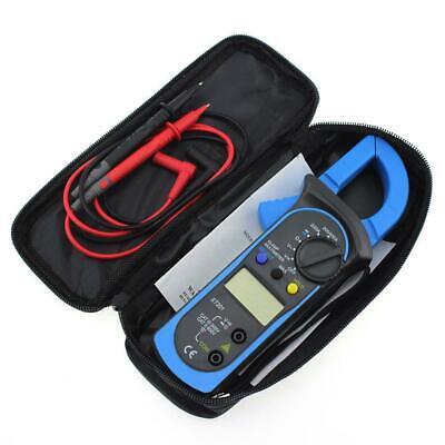 St201 Digital Clamp Multimeter Ammeter Ohm Amp Meter Acdc Resistance Tester