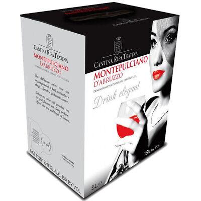 25,90 € per Vino Montepulciano D'abruzzo Doc Ripa Teatina Bag In Box 5lt - Offerta - su eBay.it