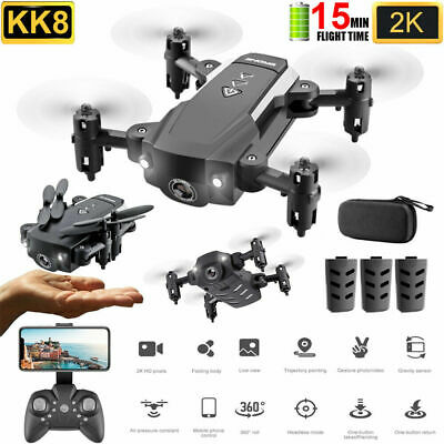 KK8 Mini Drone With Camera-Foldable 2.4G 4-AXIS FPV RC Quadcopter Wifi HD New
