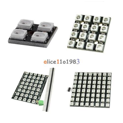 4/16/40/64Bit WS2812 Matrix LED 5050 RGB Full-Color Driver Board For Arduino