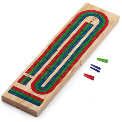 Classics 3-Track Color Coded Wooden Folding Cribbage (Folding Cribbage Board)