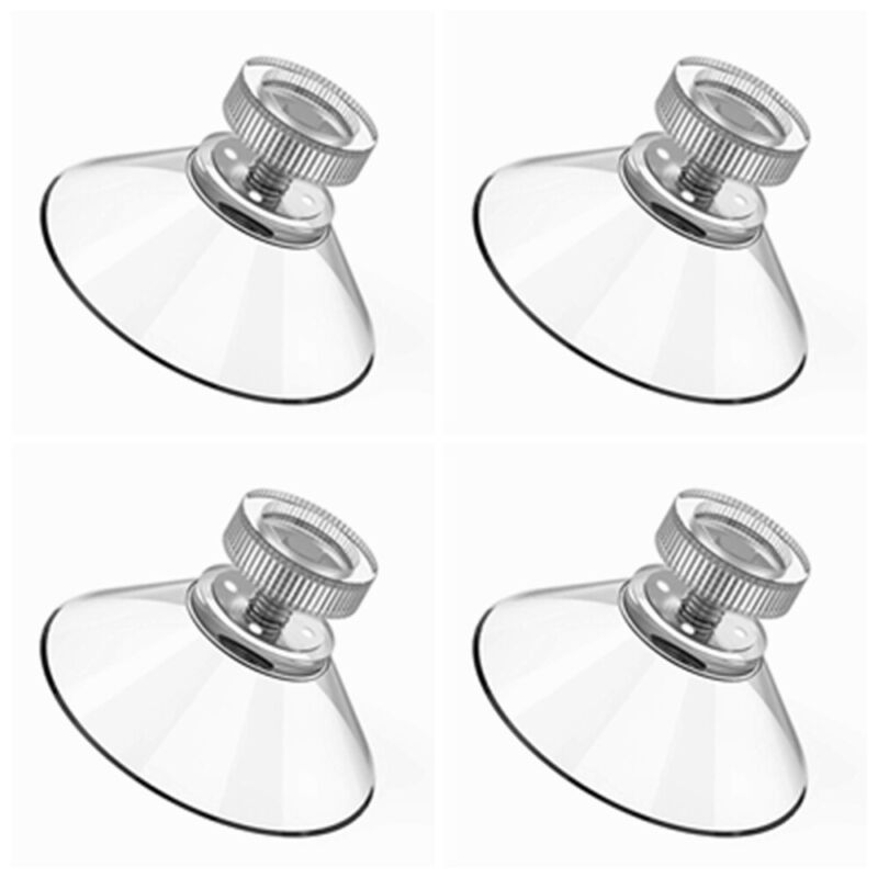 4x40mm Trade Plate Holders Suction Cups Thumb Screw Pads Suckers Plastic Nut