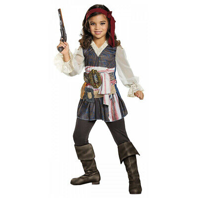 Pirates Of The Caribbean Girls Costume Classic Captain Jack Sparrow