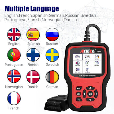 Automotive Code Reader OBD2 ABS SRS AIRBAG DPF EPB Oil Engine Diagnostic Tool (Best Automotive Engine Oil)
