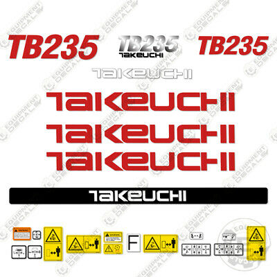 Takeuchi Tb 235 Mini Excavator Decals Equipment Decals Tb235 Tb-235