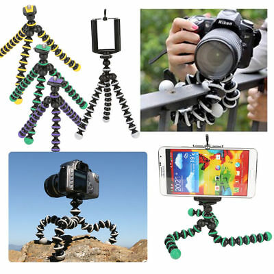 Travel Mini Digital Camera Video Smart Phone Tripod Mount Flexible Octopus Stand