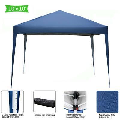 10'x10' EZ Pop Up Canopy Outdoor Patio Wedding Party Tent Fo