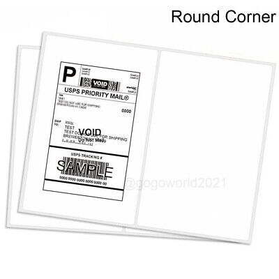 8.5x5.5 Shipping Labels Rounded Corner Self Adhesive 2 Per Sheet 200-5000 Labels