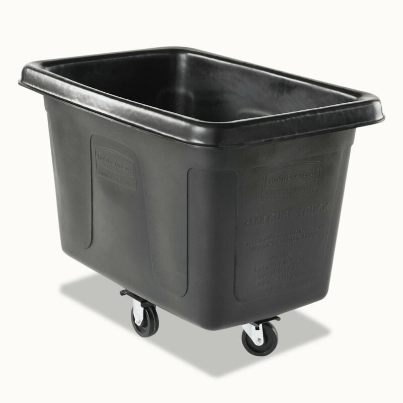 Rubbermaid Commercial RCP4608BLA 59 gal Rectangular Cube Track - Black New