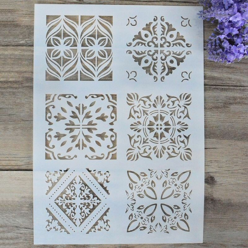 Layering Stencils For Walls Painting Scrapbooking Template D