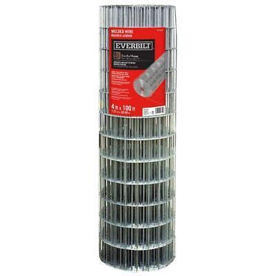 Everbilt Welded Wire Fencing 4 Ft. X 100 Ft. Mesh 14-gauge Galvanized Metal