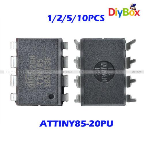 10PCS ATTINY85-20PU IC MCU 8BIT 8KB FLASH 8DIP New Good quality D34