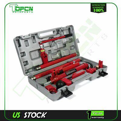Power Hydraulic Jack 10 Ton Porta Body Frame Repair Kits Auto Car Tools Lift Ram 10 Ton Hydraulic Jack