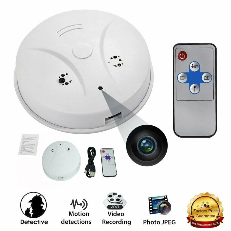 Mini  Camera Smoke Detector Motion Detection Video Recorder HD DVR Hidden Cam