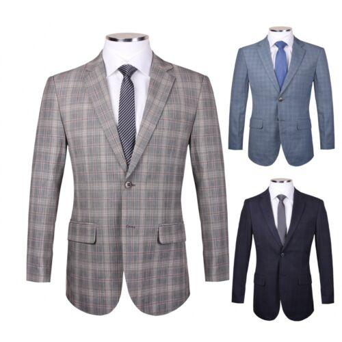 bc209c6f7 Mens Designer Vintage Tweed Jacket Style Check Herringbone Blazer Coat  Casual