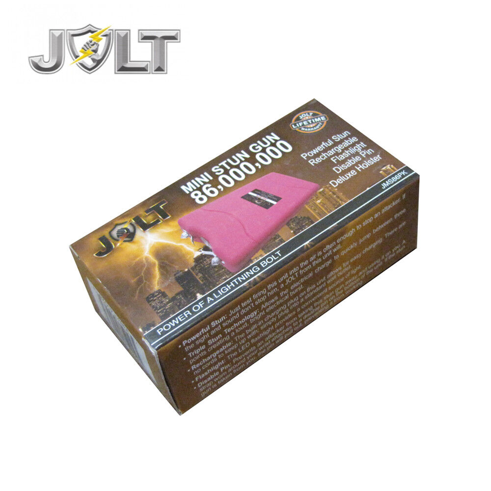 JOLT Mini 86,000,000 Volt STUN GUN W/ LED Light Holster - Max Strength PINK - $15.88