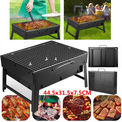 BBQ Barbecue Grill Folding Portable Charcoal Stove Garden Picnic Outdoor Travel
