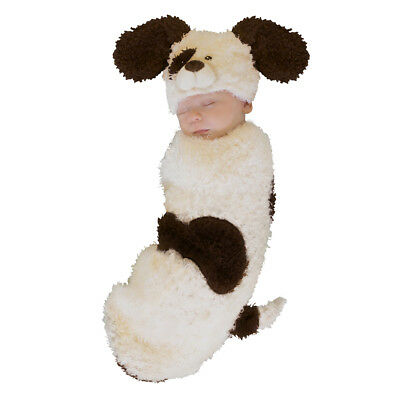 Newborn Cuddly Puppy Swaddle Costume sz 0-3M