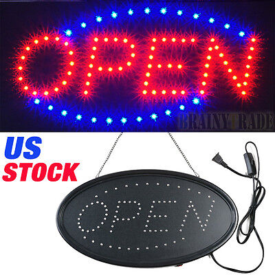 Animated Motion Running Led Business Open Sign Onoff Switch Bright Light