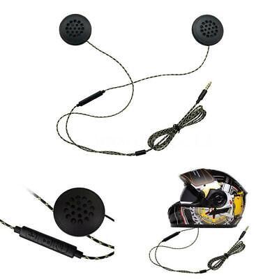 Motorcycle Helmet Interphone Headphone Speaker Headset w/MIC for MP3 iPod UK BOL