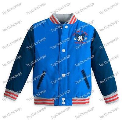 DISNEY Store VARSITY JACKET for Boys 2017 MICKEY MOUSE Choose Size NWT](Varsity Jacket For Boys)