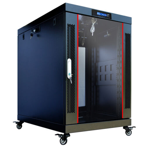 "Sysracks 18U Server Rack Cabinet Enclosure Premium Series Sysracks 35"" Depth"
