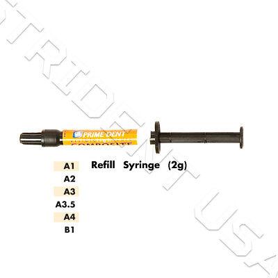 Prime Dent Vlc Light Cure Flowable Composite - 2 Gram Syringe Multiple Shades