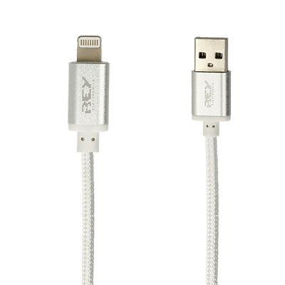 Cable Lightning USB Carga Transmisión datos IPHONE Nylón Trenzado 1,5 m. i232