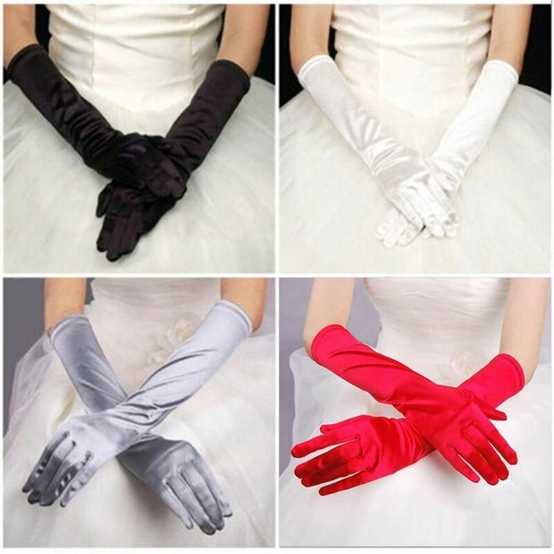 Mehrzweck Abend Party Hochzeit formale Prom Stretch Satin Handschuh