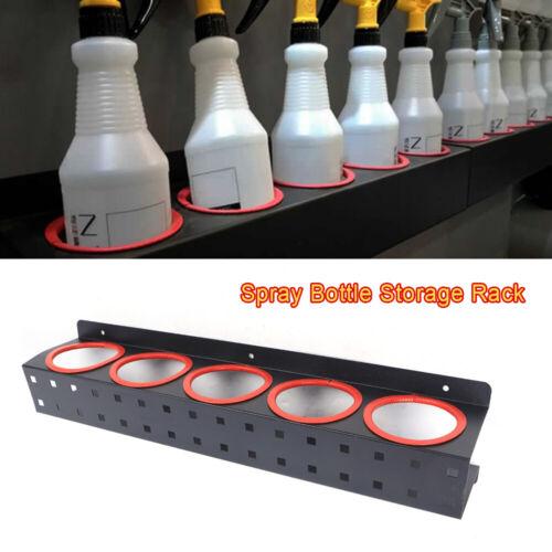 Salon Spray Bottle Storage Rack Holder Wall Mounted Rail Det