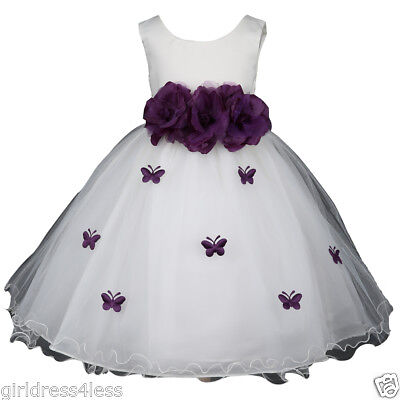 Petal Fairy Dress - Ivory Butterfly Petals Halloween Princess Fairy Ruffled Girl Dress - Many Colors